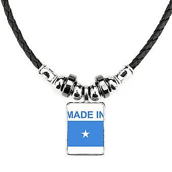 Vyrobené v Somálsku krajina láska náhrdelník