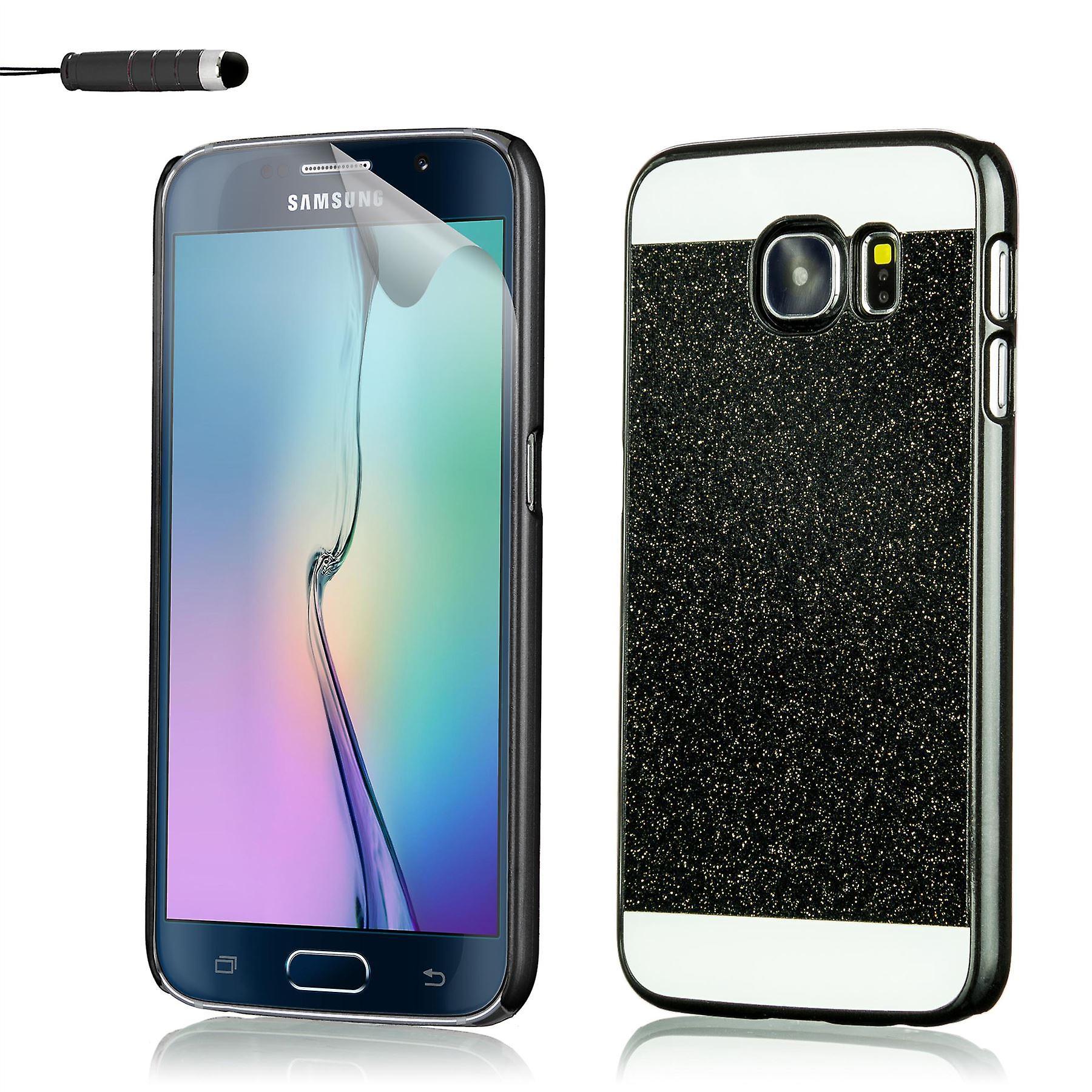Glitter case for Samsung Galaxy S6 SM-G920 + stylus - Black