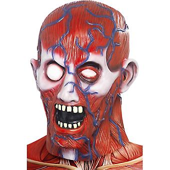 Anatómia muž maska telo Hagen Scalped horor