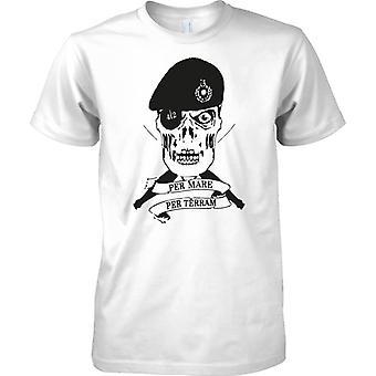 Royal Marines Commando 42 Cdo Schädel - Kinder T Shirt