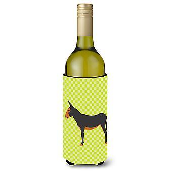 Catalan Donkey Green Wine Bottle Beverge Insulator Hugger