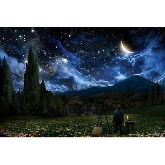 Alex Ruiz Starry Night Poster Poster Print