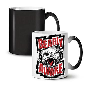Bear Awake Beast Funny NEW Black Colour Changing Tea Coffee Ceramic Mug 11 oz | Wellcoda
