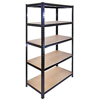 10 x 90cm Black Warehouse Storage Bays / Garage Shed Shelving / Utility Racks