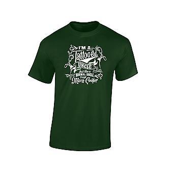 Jag är en tatuerad farbror utom mycket svalare Edition Mens T-Shirt 10 färger (S-3XL) av swagwear