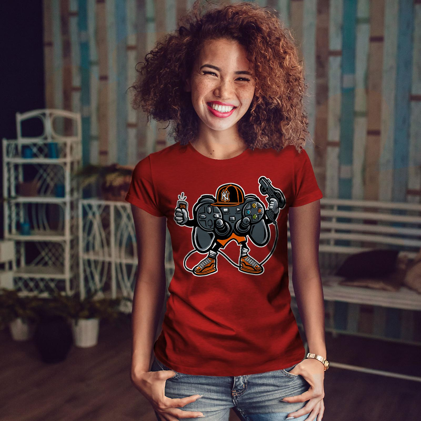 Cool Joystick Geek Gaming RedT-chemise femme   Wellcoda