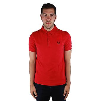 Fred perry SM1411 Denim Pocket Pique Polo Shirt 956 Red