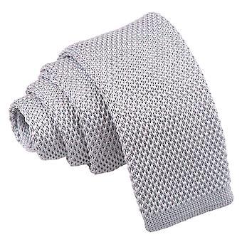 Silberne Strick Krawatte für jungen