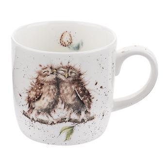 Koninklijke Worcester Wrendale vogels van een veer uilen één mok