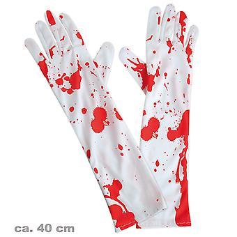 Handschoenen met bloed vlekken zombie chirurgie chirurg dokter accessoire