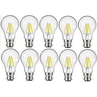 10 X Energizer 7.2W = 60W LED Filament GLS gloeilamp Vintage BC B22 bajonet lampvoet [energieklasse A +]