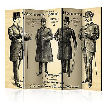 5-teiliges Paravent - V?tements pour Homme II [Room Dividers]