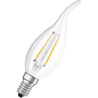 OSRAM 4052899936492 LED (monochrome) EEC A++ (A++ - E) E14 Candle angular 2 W = 25 W Warm white (Ø x L) 35 mm x 120 mm Filament 1 pc(s)