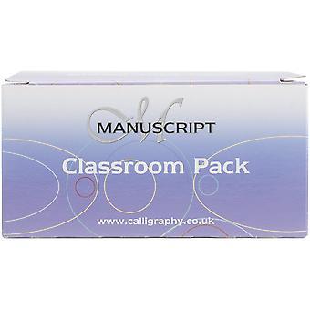 Manuskript håndskrift penne klasseværelse Pack 40/pkg-sort blæk