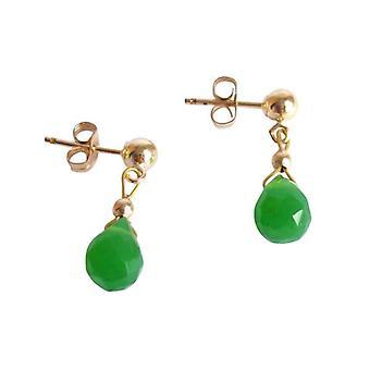 Øret plug øreringe jade øreringe NINA-MARIE forgyldt