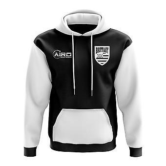 Concepto de Bretaña país fútbol con capucha (negro)