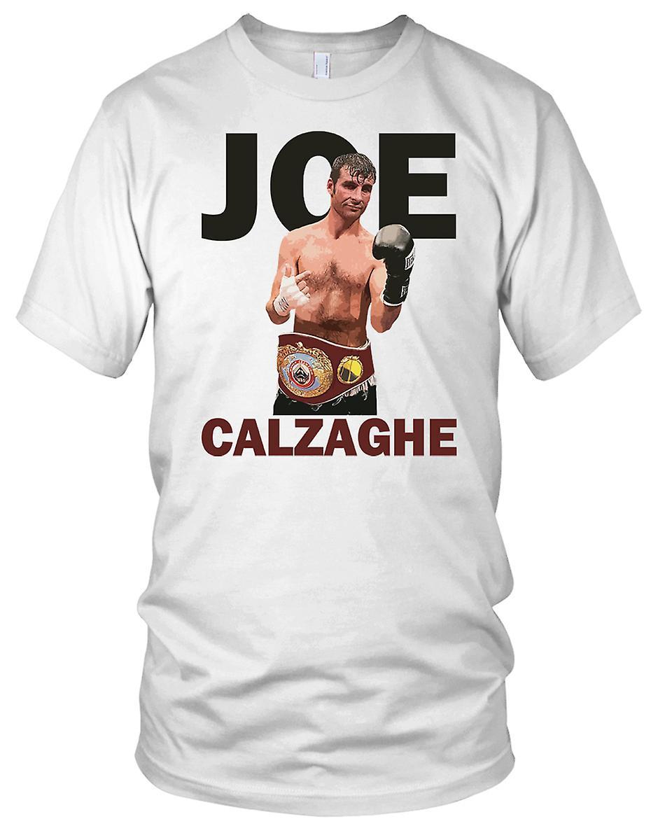 Joe Calzaghe boksing legende Mens T-skjorte