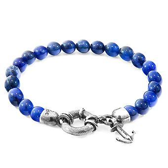Anchor & Crew Blue Sodalite Port Silver and Stone Bracelet