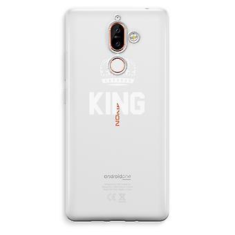 Nokia 7 Plus boîtier Transparent (doux) - King noir