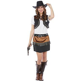 Wild West Kostüm Cowgirl Western Damenkostüm