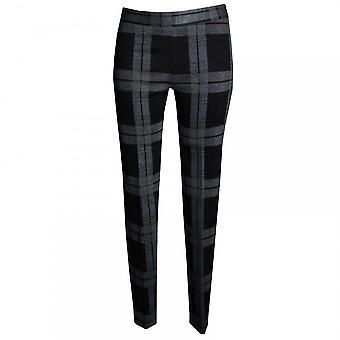 Latte Women's Checked Narrow Leg Trousers