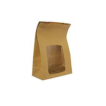 Vegware Compostable Kraft Window Bloomer Bags
