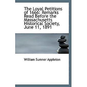 1666 uskollinen vetoomukset: huomautukset Lue ennen Massachusetts Historical Society, 11. kesäkuuta 1891