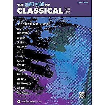 Le livre géant des partitions Piano classique: Piano facile (livre géant de partitions)