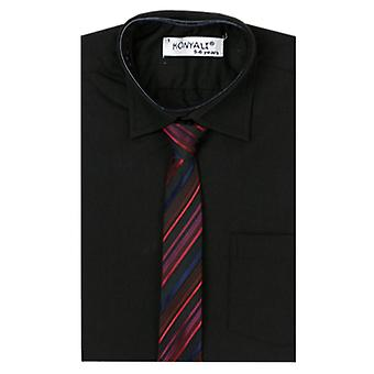 Boys Formal Black Shirt with Tie Set