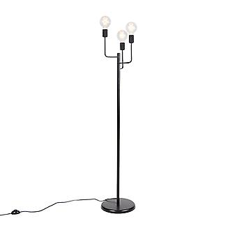 QAZQA Modern Floor Lamp 3 Black - Facile
