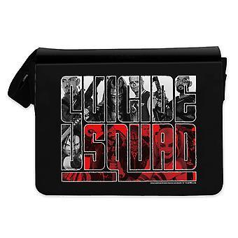 Suicide squad Messenger bag gedrukte zwart, logo, 100% polyester.