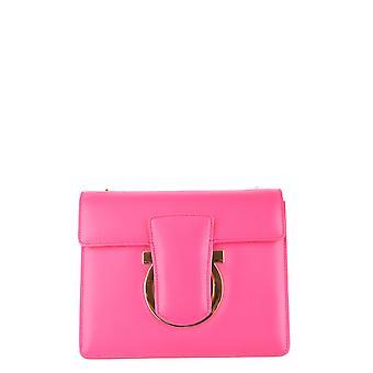 Salvatore Ferragamo Ezbc078002 Kvinnor's rosa läder axelväska