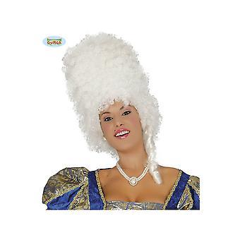 Peruki Kobiety Biała wysoka barokowa peruka