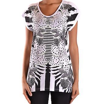 Apenas Cavalli Ezbc141009 Women's White/black Cotton T-shirt
