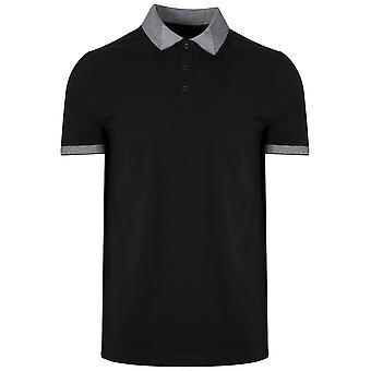Michael Kors  Contrast Collar Black Polo Shirt
