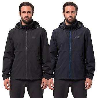 Jack Wolfskin Hombres Evandale Chaqueta impermeable