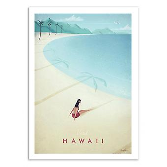 Art-poster-besök Hawaii-Henry Rivers 70 x 100 cm