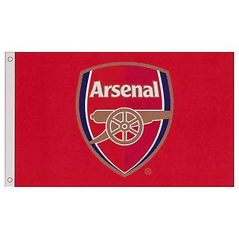 Arsenal FC Core Crest Flag