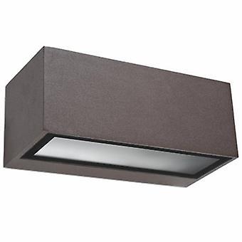1 luce parete esterna marrone chiaro IP54