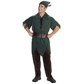 Peter Pan Disney Neverland Fairytale Story Book Week Adult Mens Costume XL