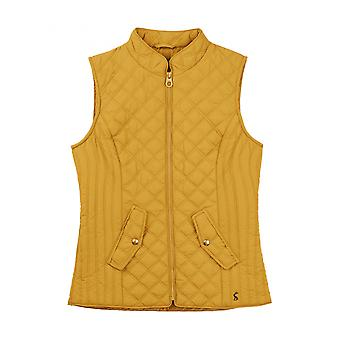 Joules Minx mulheres Quilted Gilet-caramelo