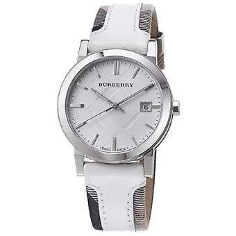 Burberry Bu9019 Mens Heritage White Face Fabric Watch