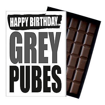 Śmieszne urodziny prezent dla starych mężczyzn kobiety Rude prezent czekolada pozdrowienia karty IYF156