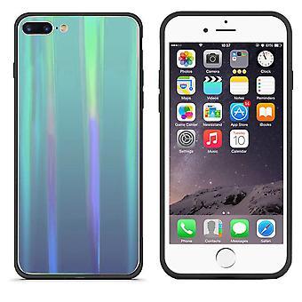 Bagdæksel Aurora glas til Apple iPhone 8/7 blå