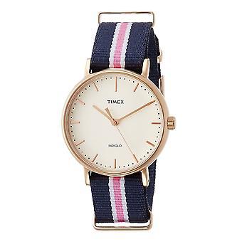 Timex kvinnor ' s Quartz klocka med ratten TW2P91500