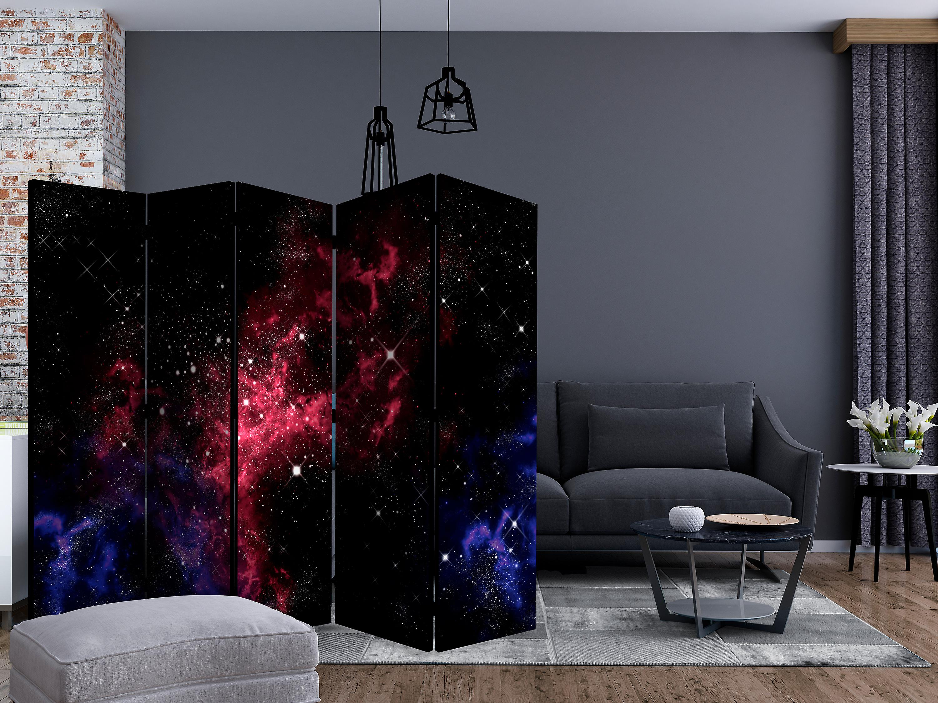 Paravent 5 volets - space - stars [Room Dividers]