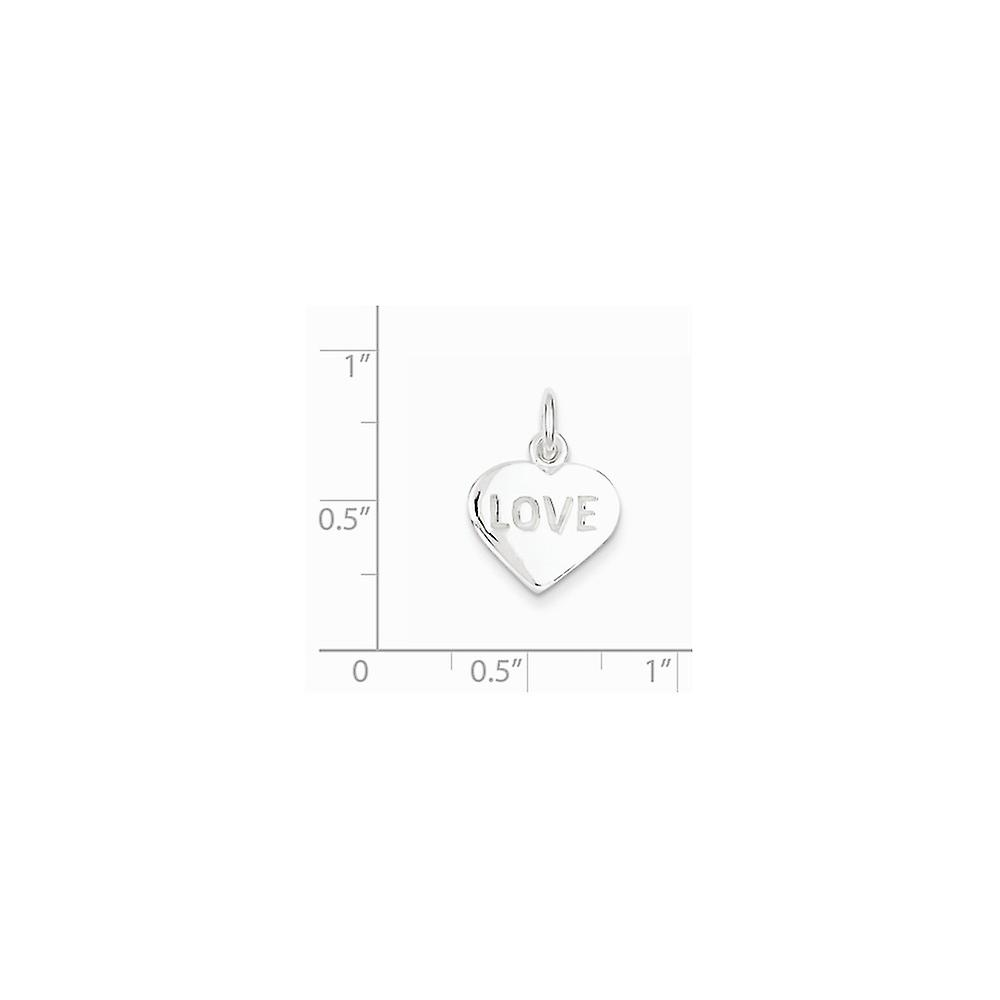 925 Sterling Silver Solid Polished Love Heart Charm Pendant Necklace Jewelry Gifts for Women