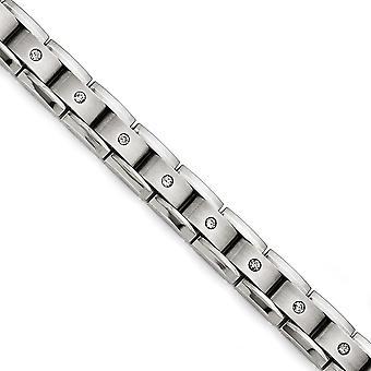Titanium polerad Matt 1ct Tw. diamant armband - 1.00 dwt - 8 tum