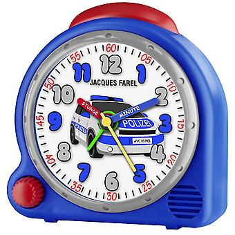 JACQUES FAREL Children's Alarm Clock Wekker analoge politie jongens AVC 05POL Wake-up geluid