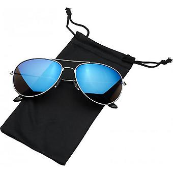 Bullet Sunglasses With Coloured Mirrored Lenses
